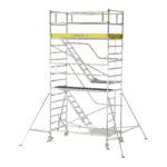 Trappställning aluminium bredd 1,35 m Arbetshöjd 10,0 m