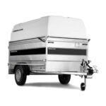 Släpvagn med kåpa, Totaltvikt 1000 kg, Lastvikt 690 kg